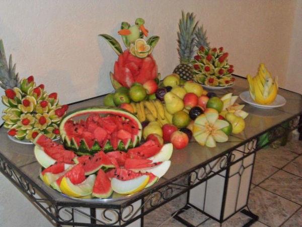 Top 5 mesas de futas para o ano novo Lista Mulher -> Como Decorar Frutas Para Ano Novo