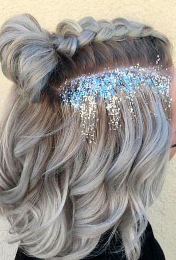 Top 20 penteados para o carnaval com glitter Lista Mulher