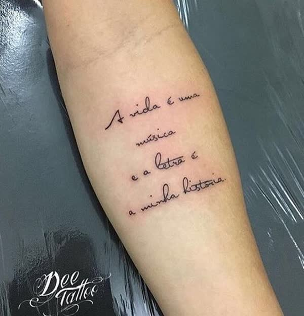Tag Tatuagem Feminina Delicada Frases